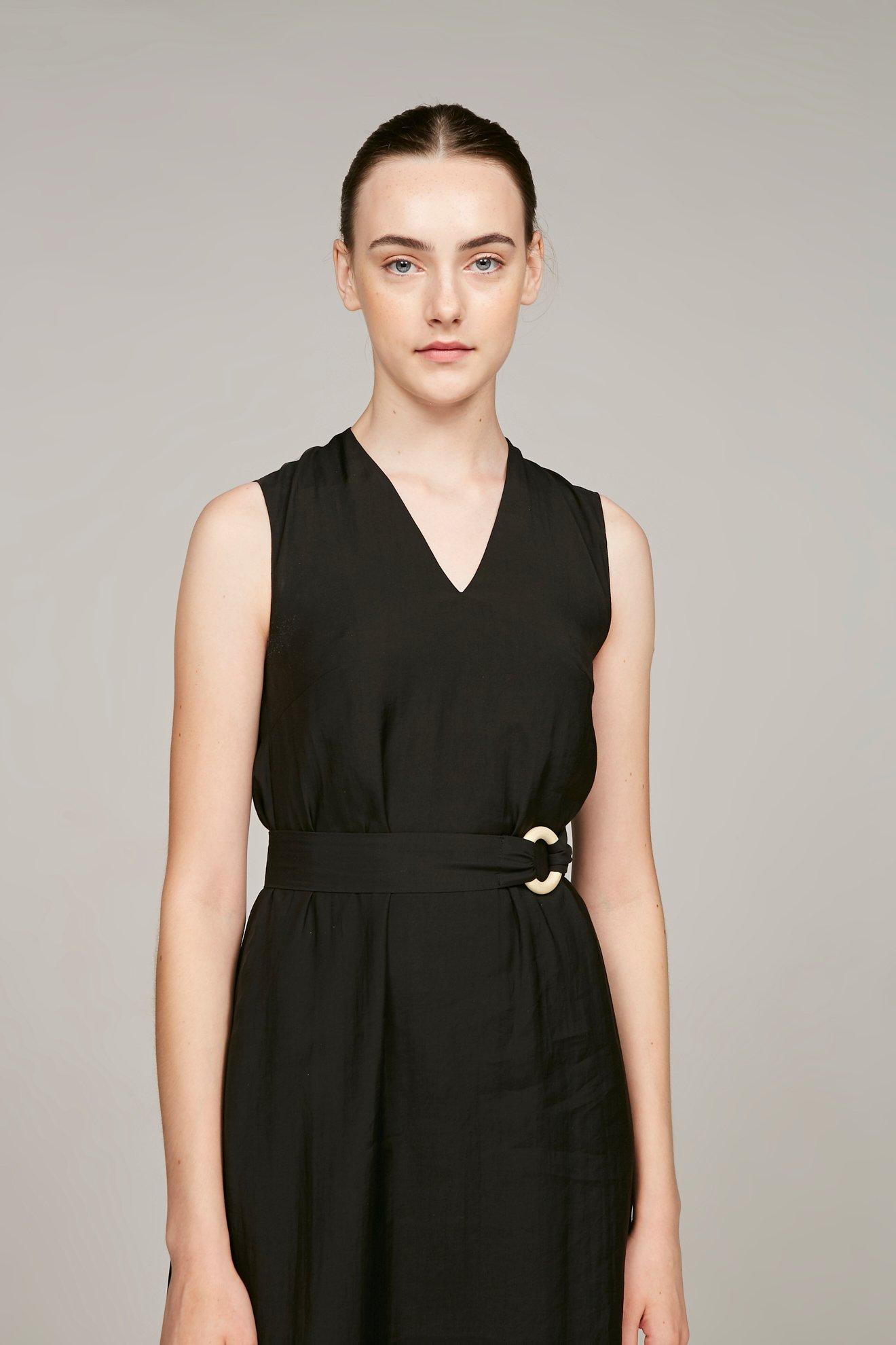 Loop Buckle Midi Dress