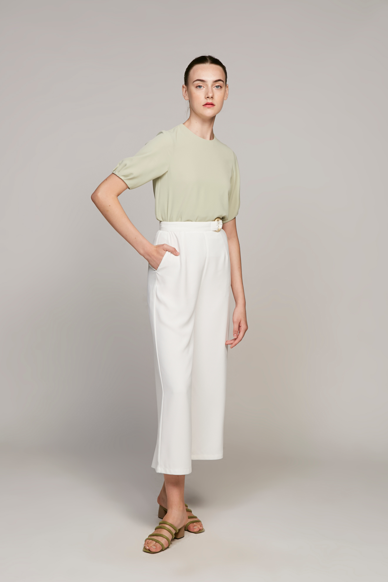 Pleat Sleeve Blouse