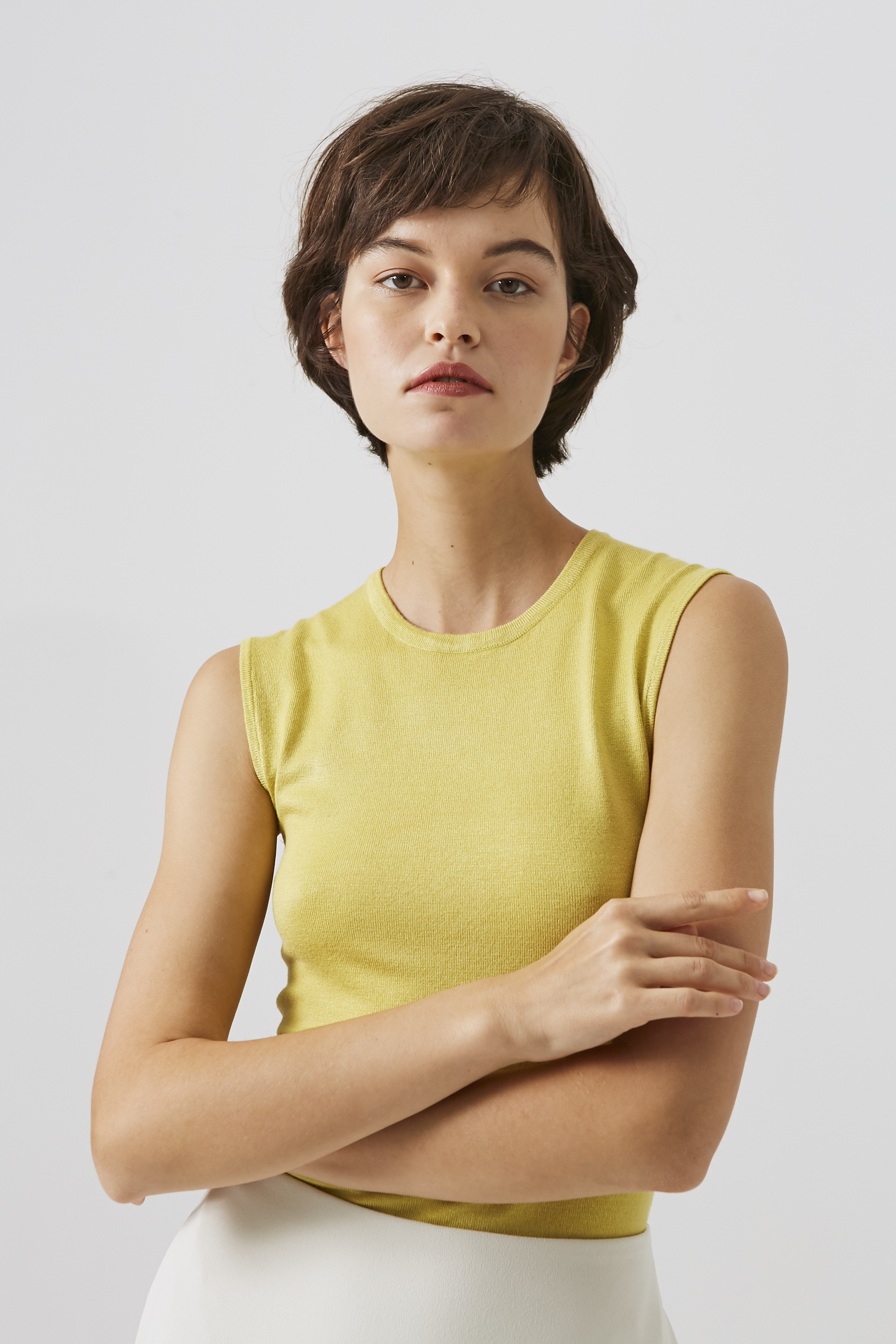 Sleeveless Viscose Knit Top