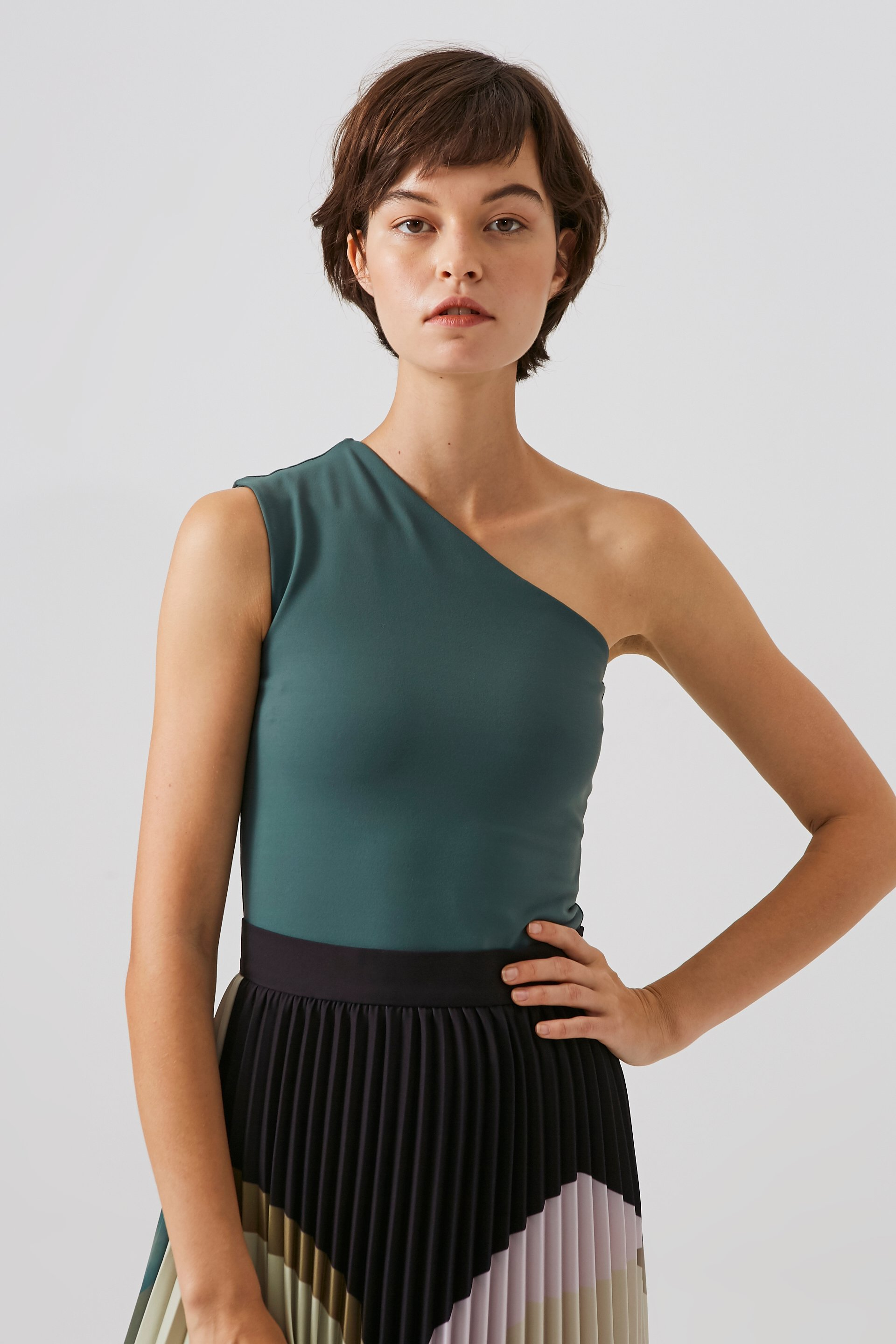 One-Shoulder Jersey Top