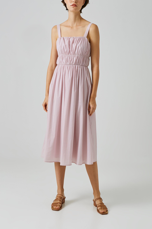 Gathered Seam Midi Dress