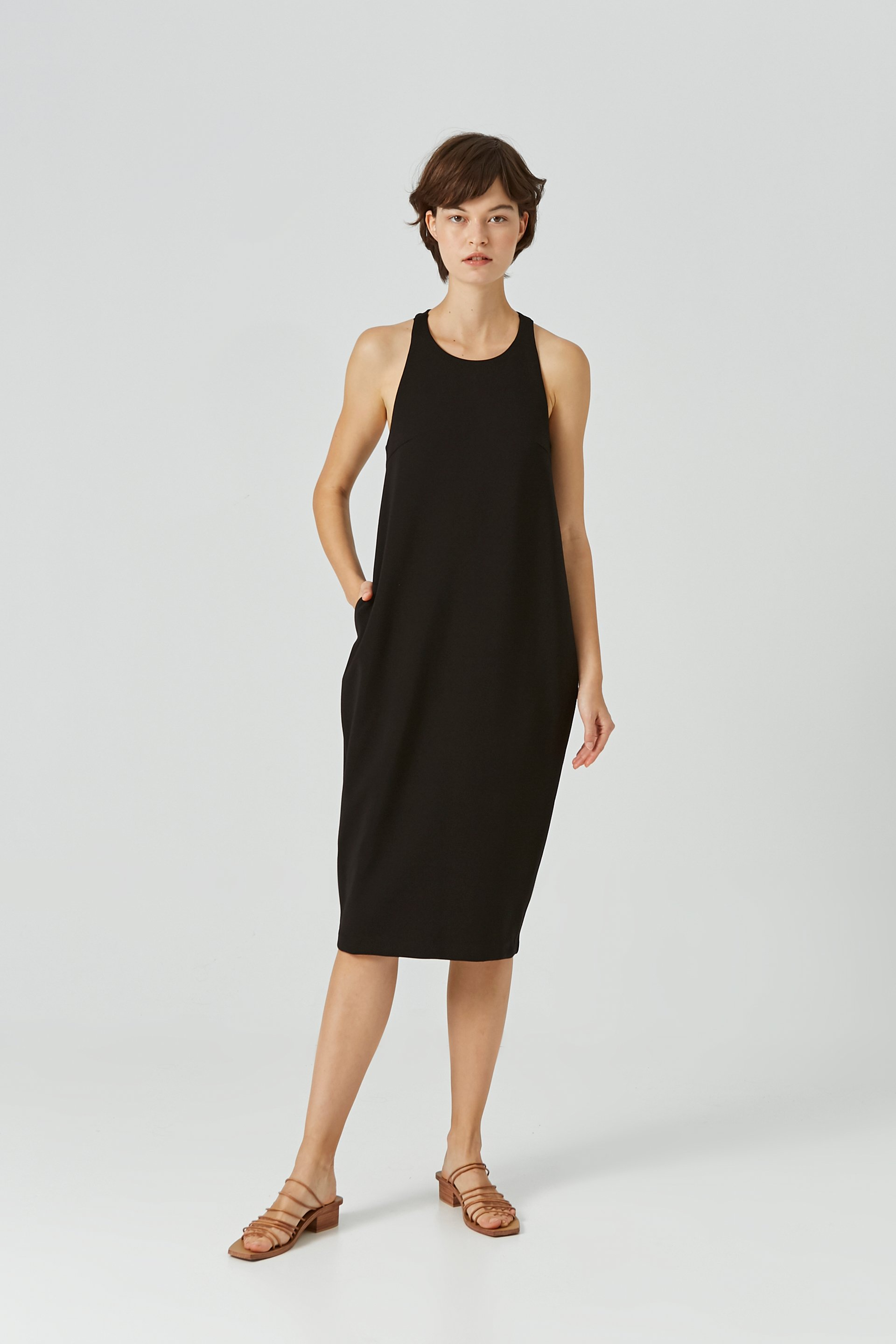 T-Back Double-Bonded Jersey Dress
