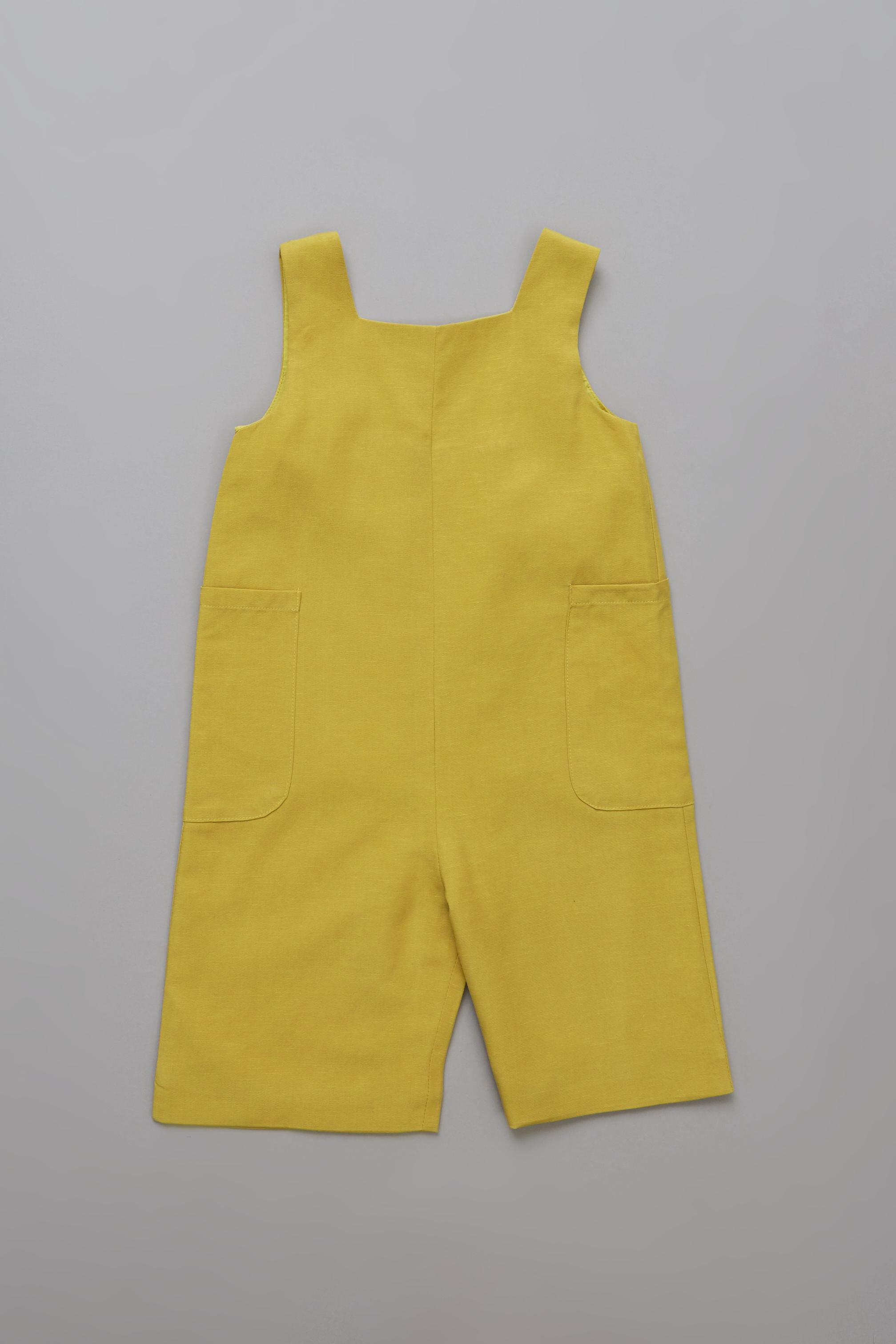 Linen Gathered Back Jumpsuit