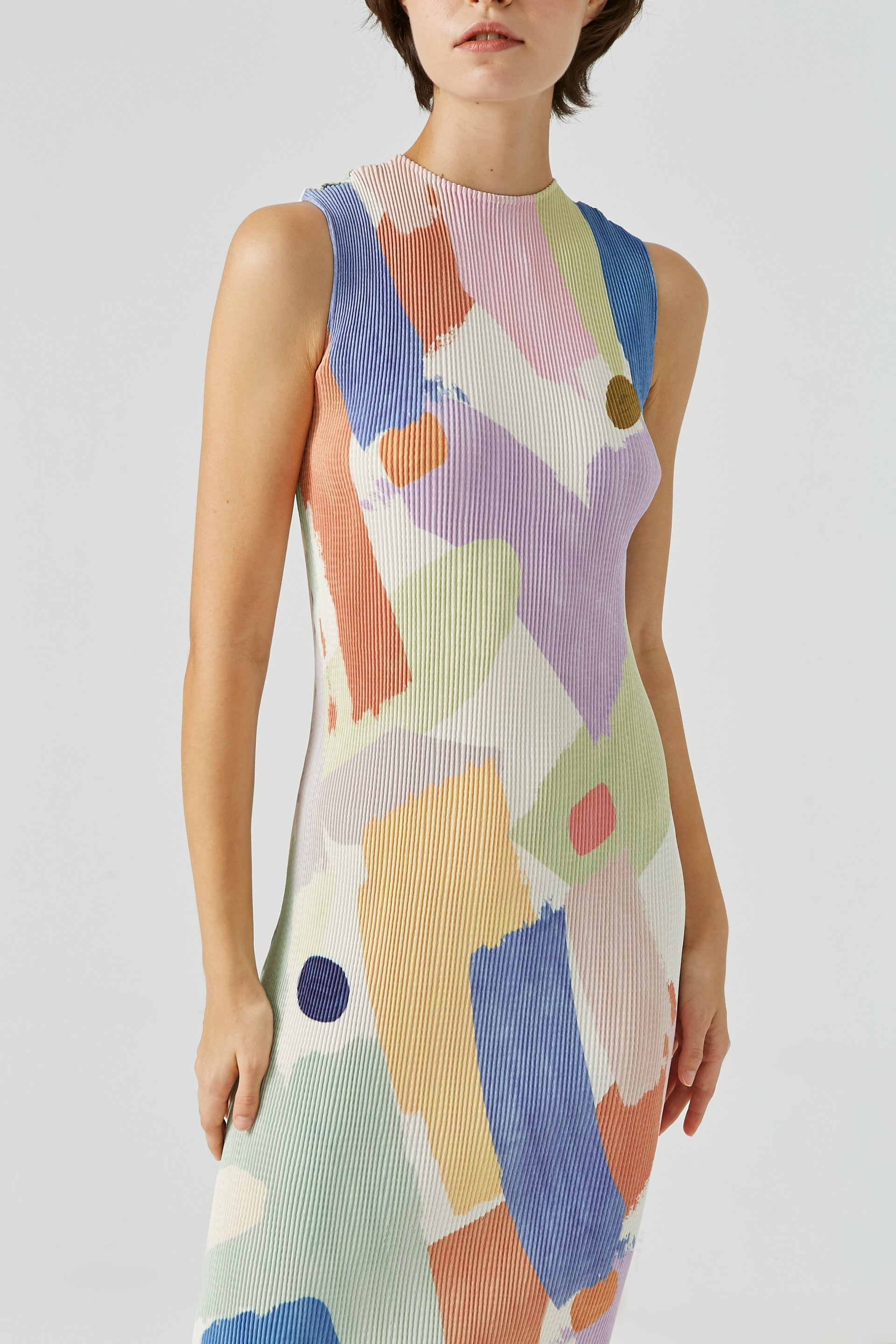Lightyear High-Neck Pleated Dress