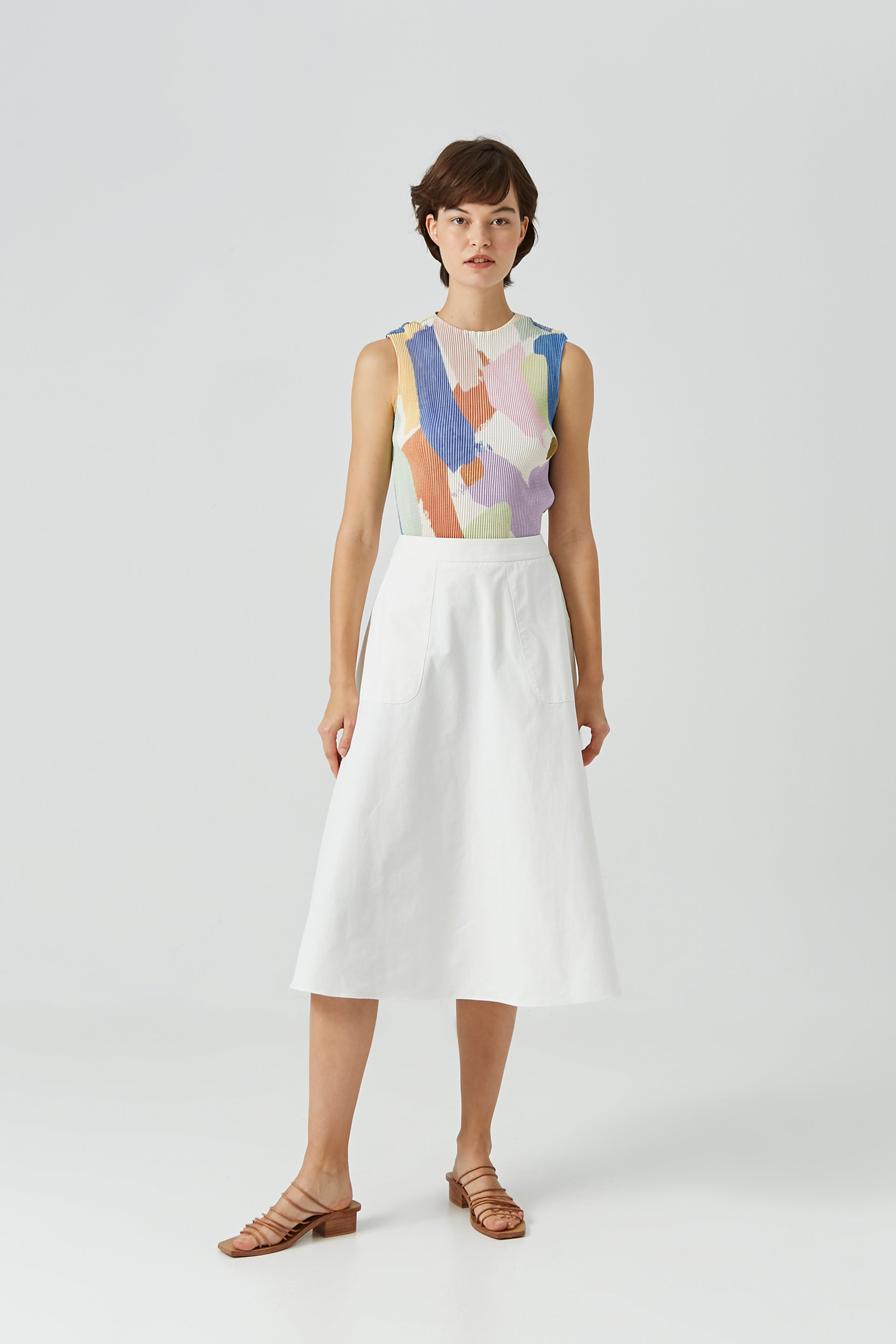 Lightyear High-Neck Pleated Top
