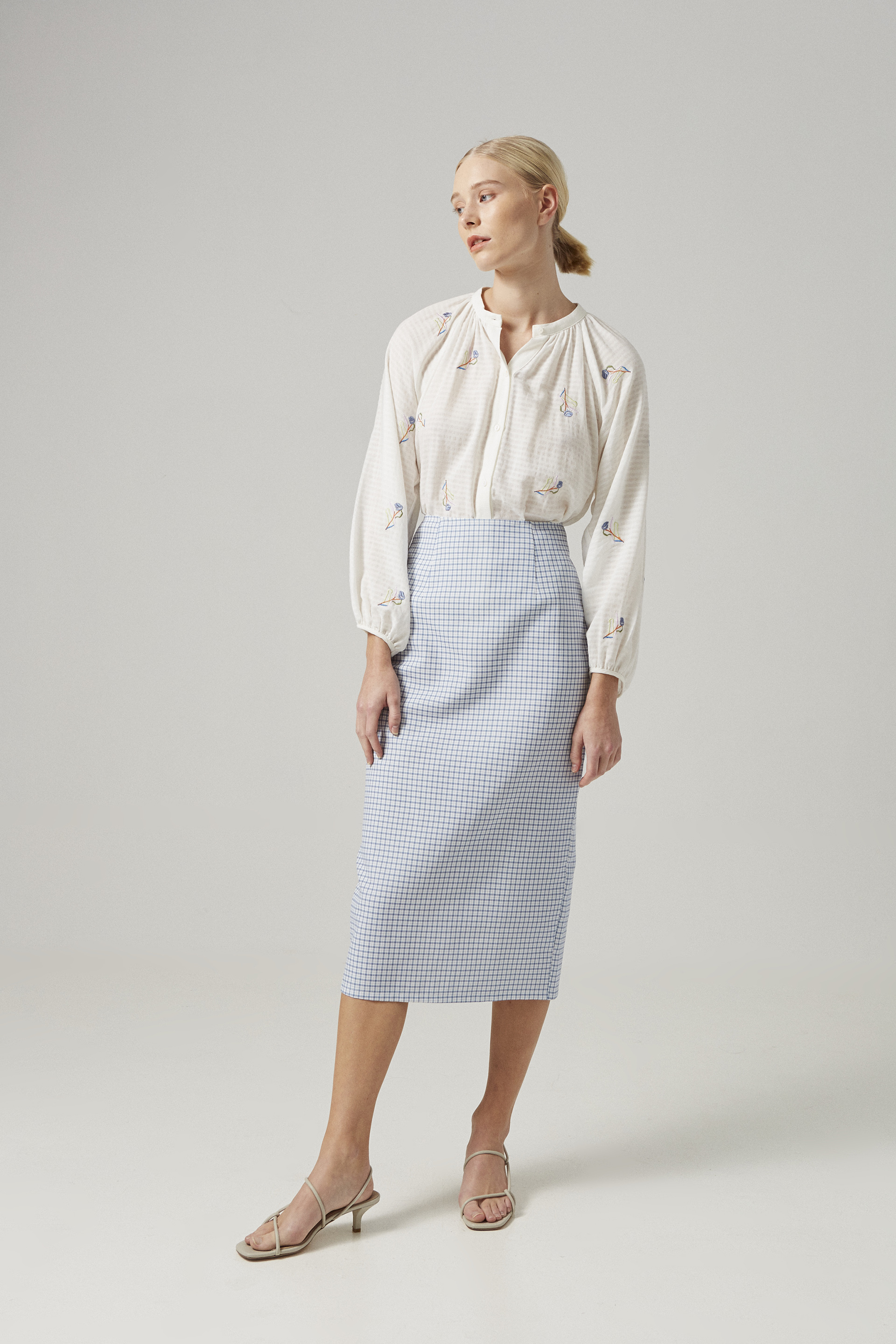 Liberty Embroidered Billowy Blouse