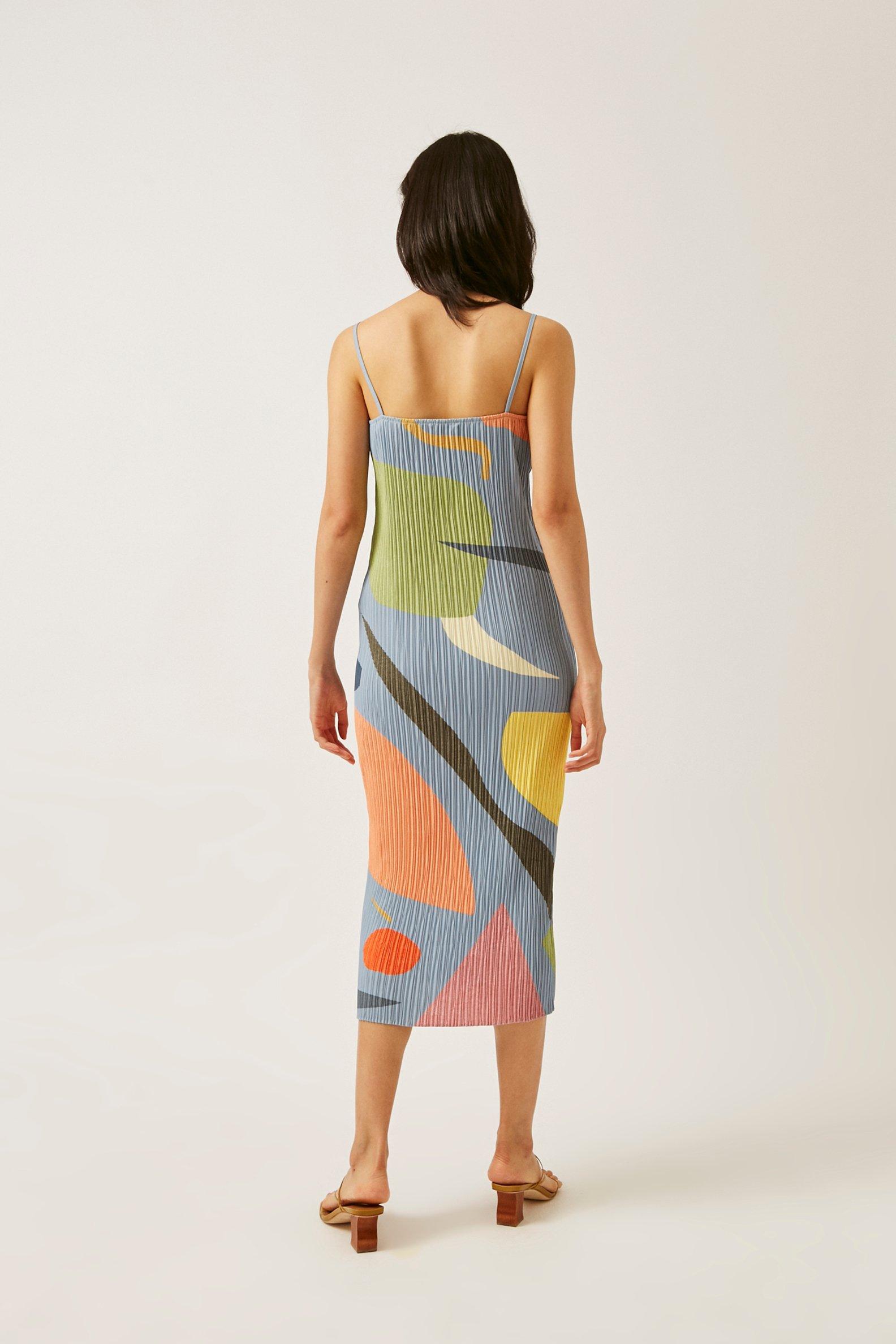Splendour Pleated Column Dress