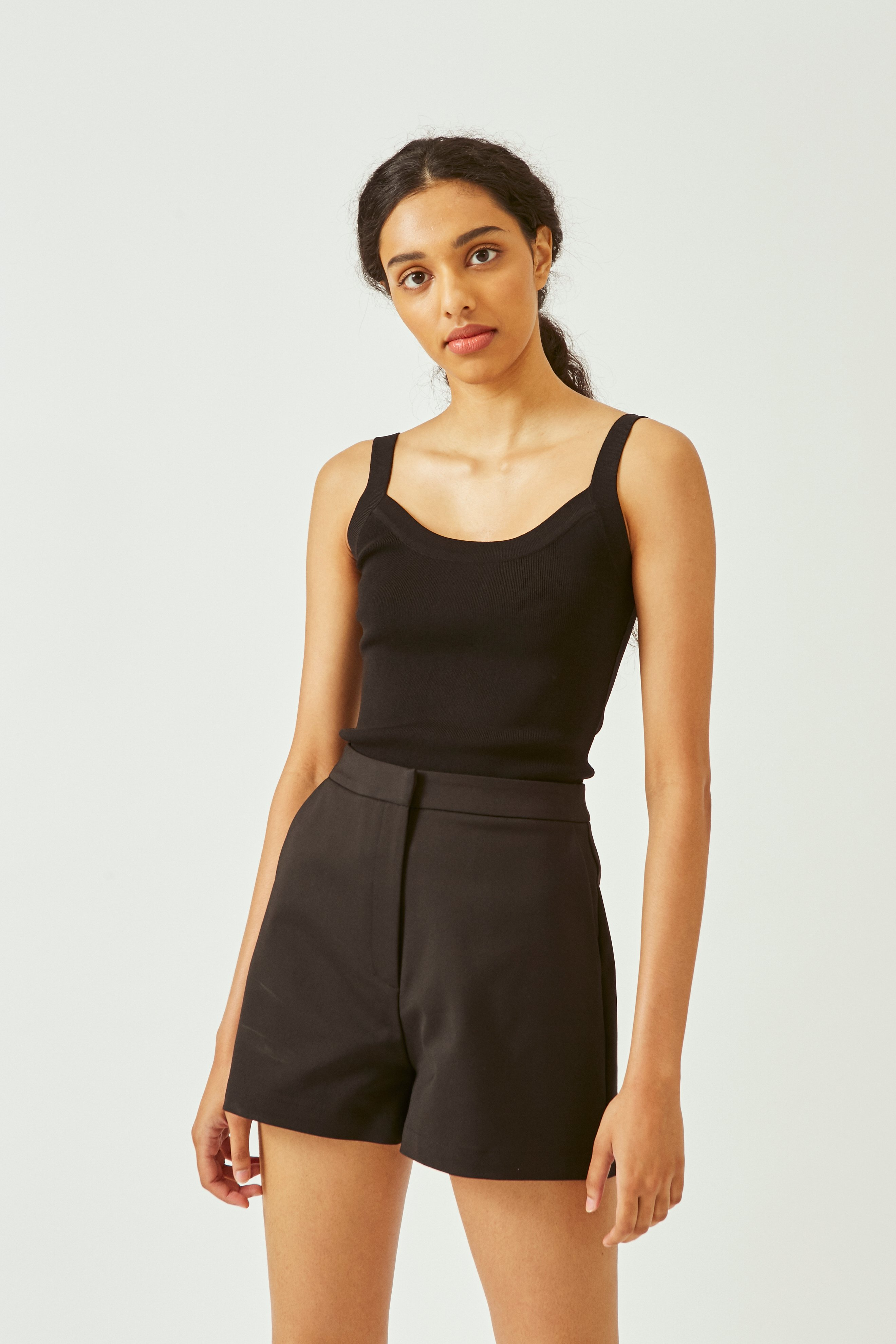 Knitted Scoop Tank Top