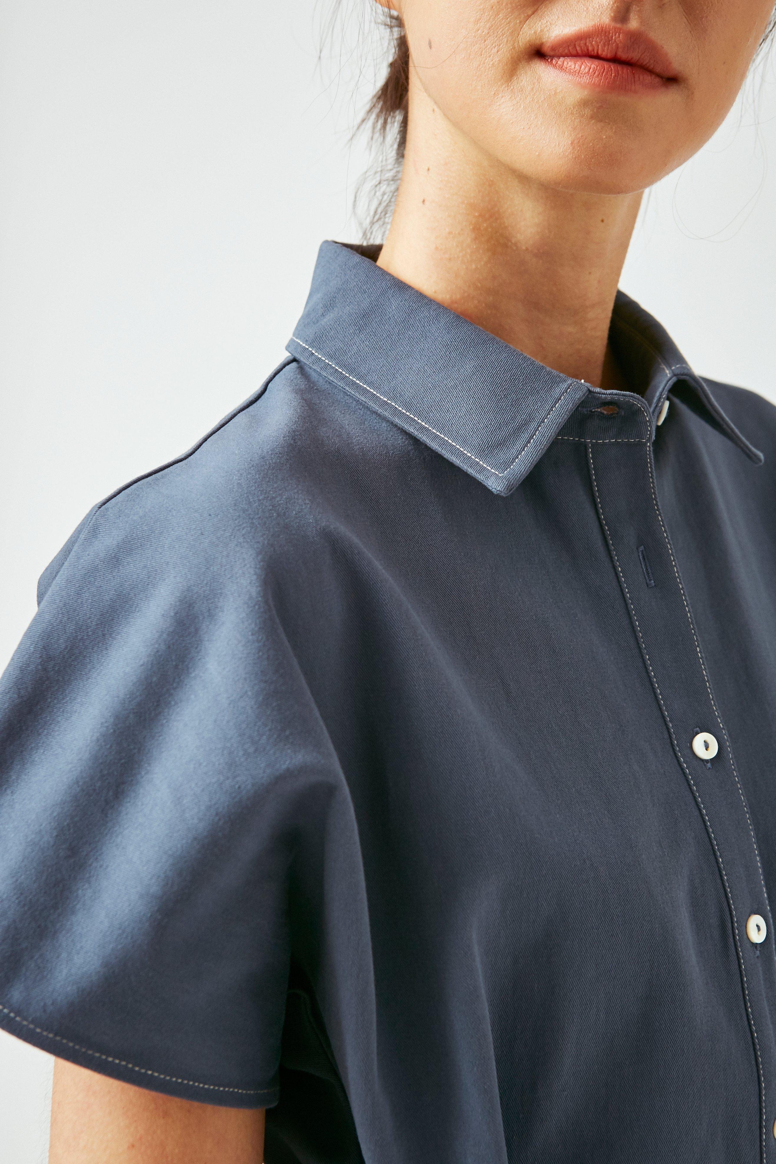 Contrast Stitch Cotton Jumpsuit