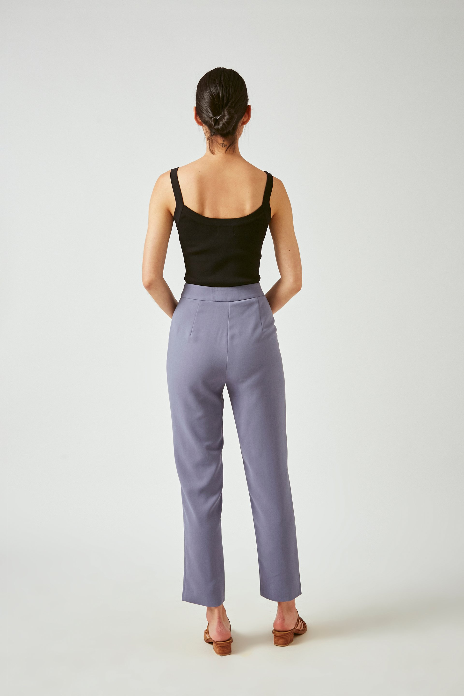 Crepe Tailored Pants