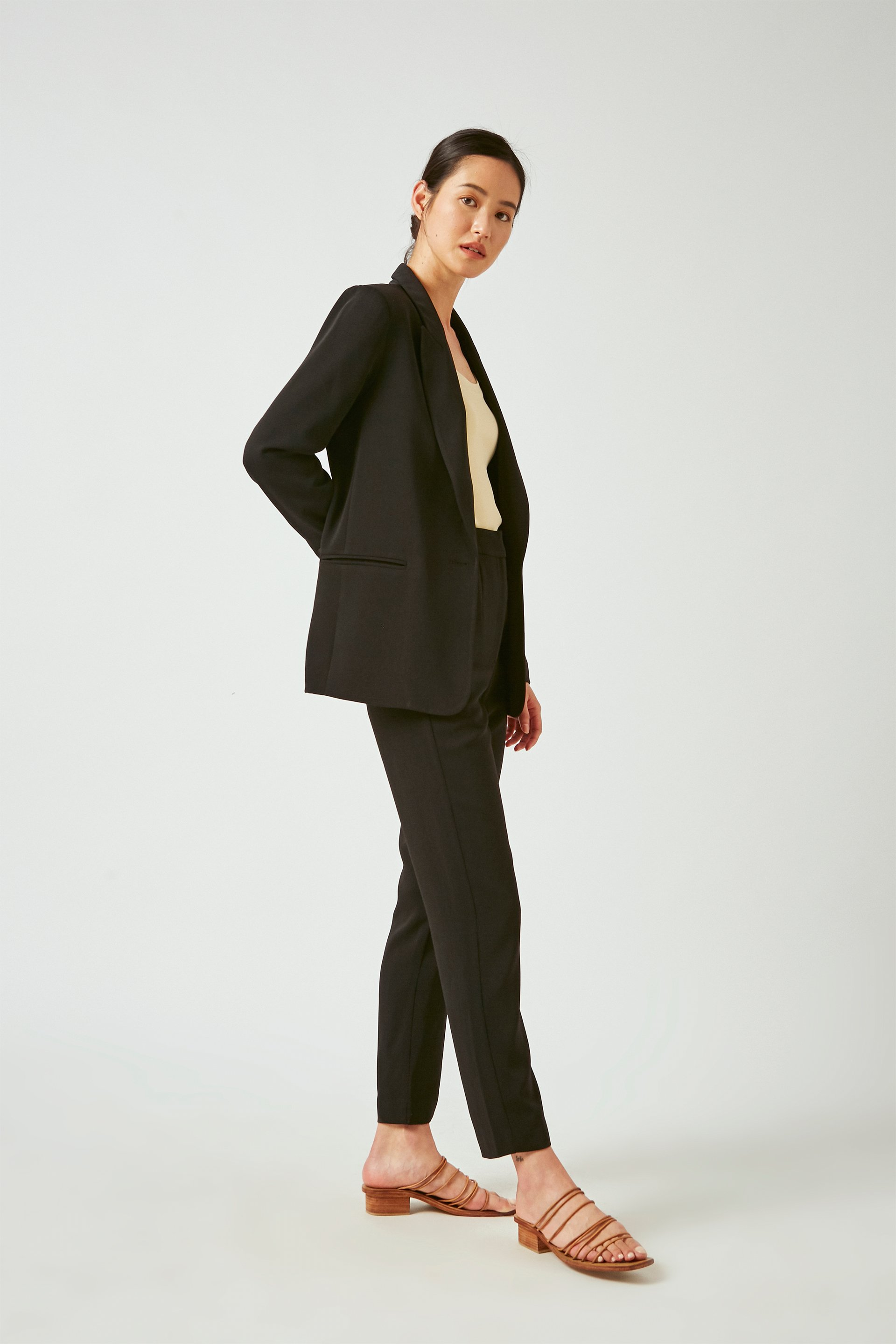 Crepe Tailored Blazer