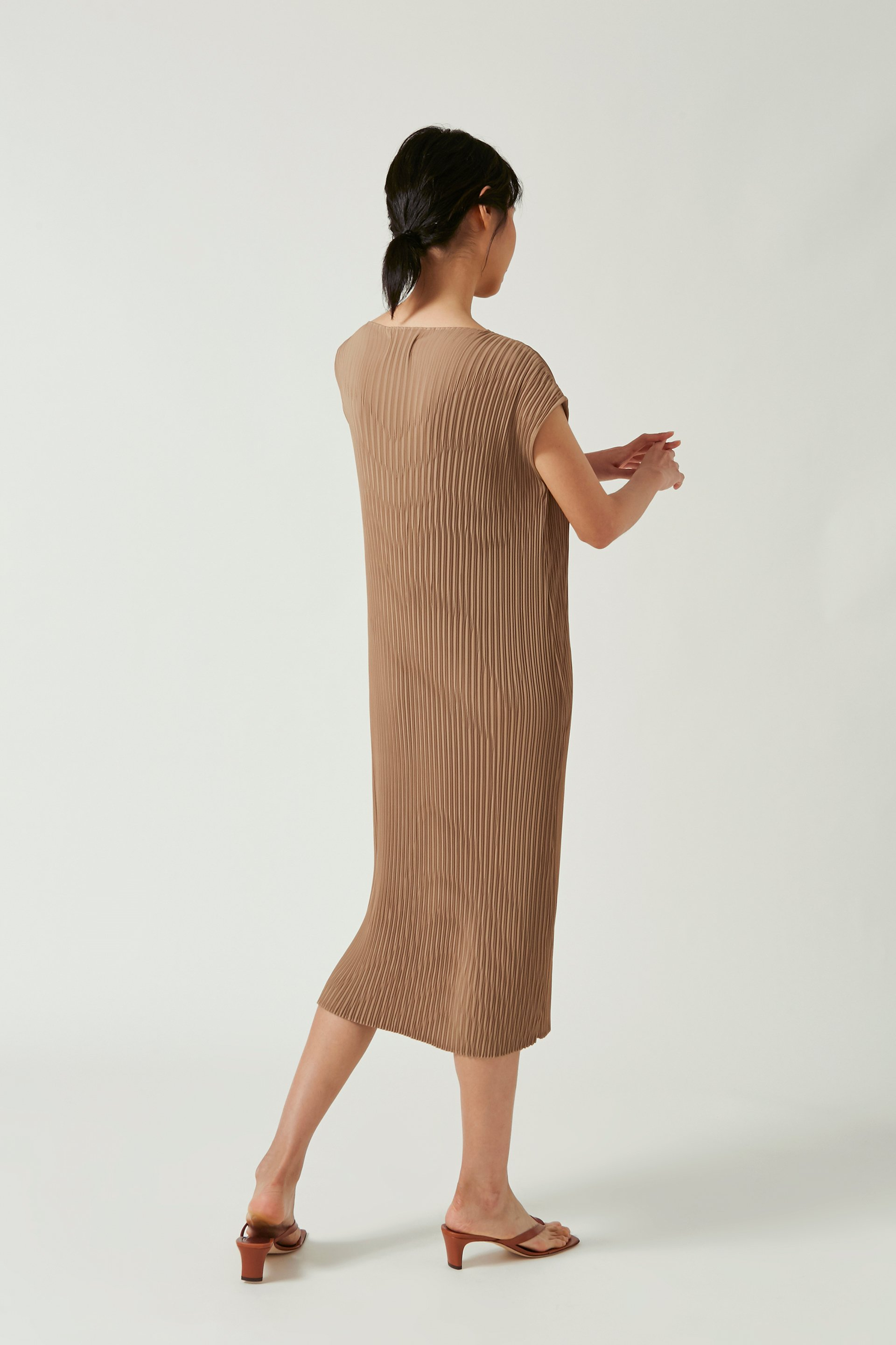 Pleated Kaftan Dress