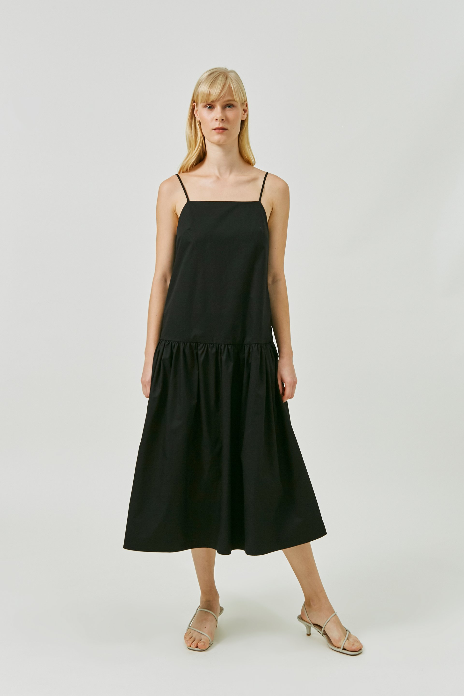 V-Back Cotton Dress