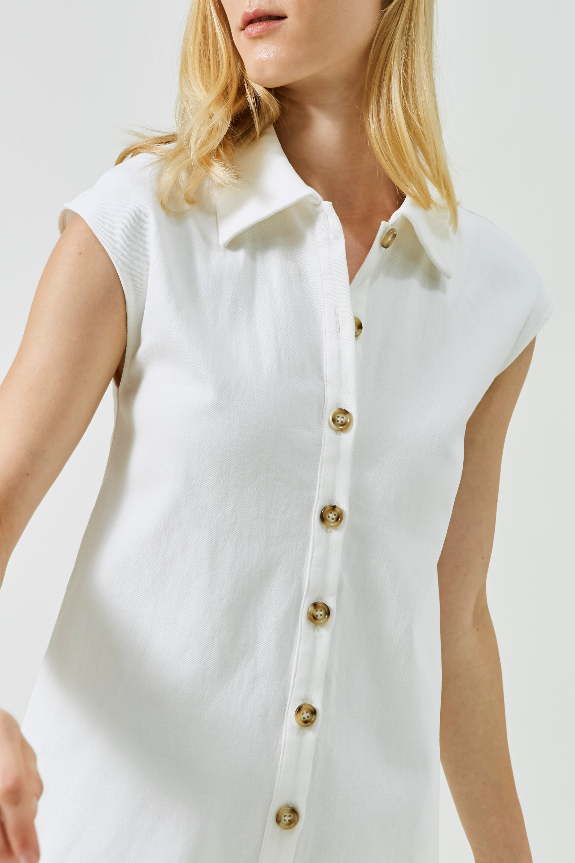 Collared Cotton Romper