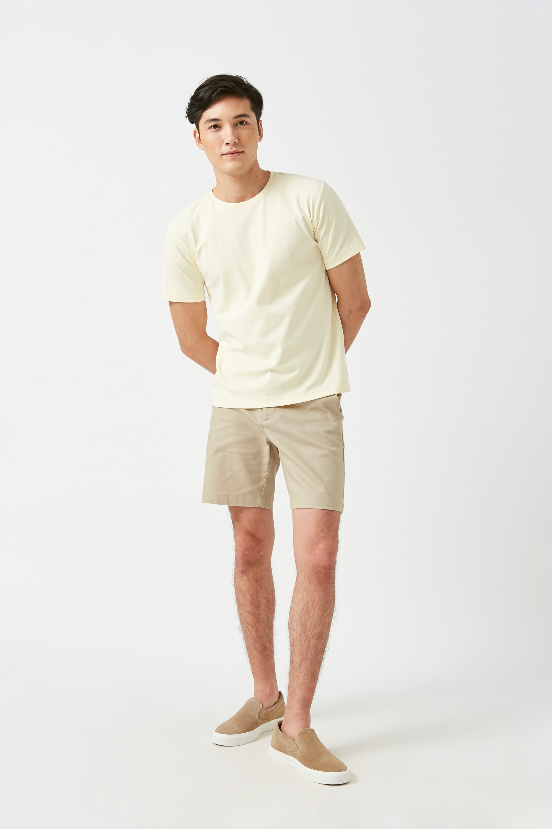 Relaxed Fit Cotton Bermuda Shorts