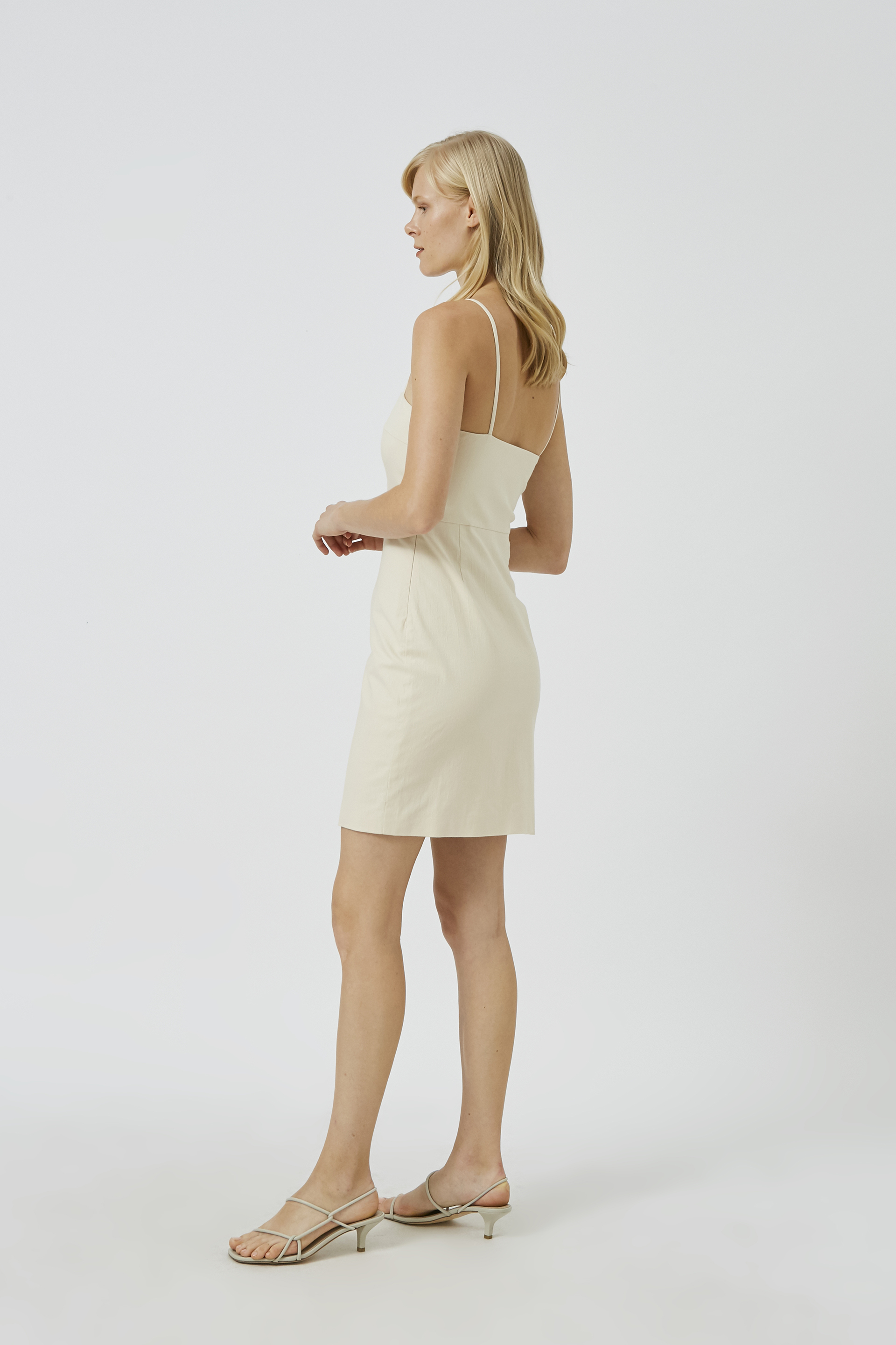 Textured Cotton Mini Dress