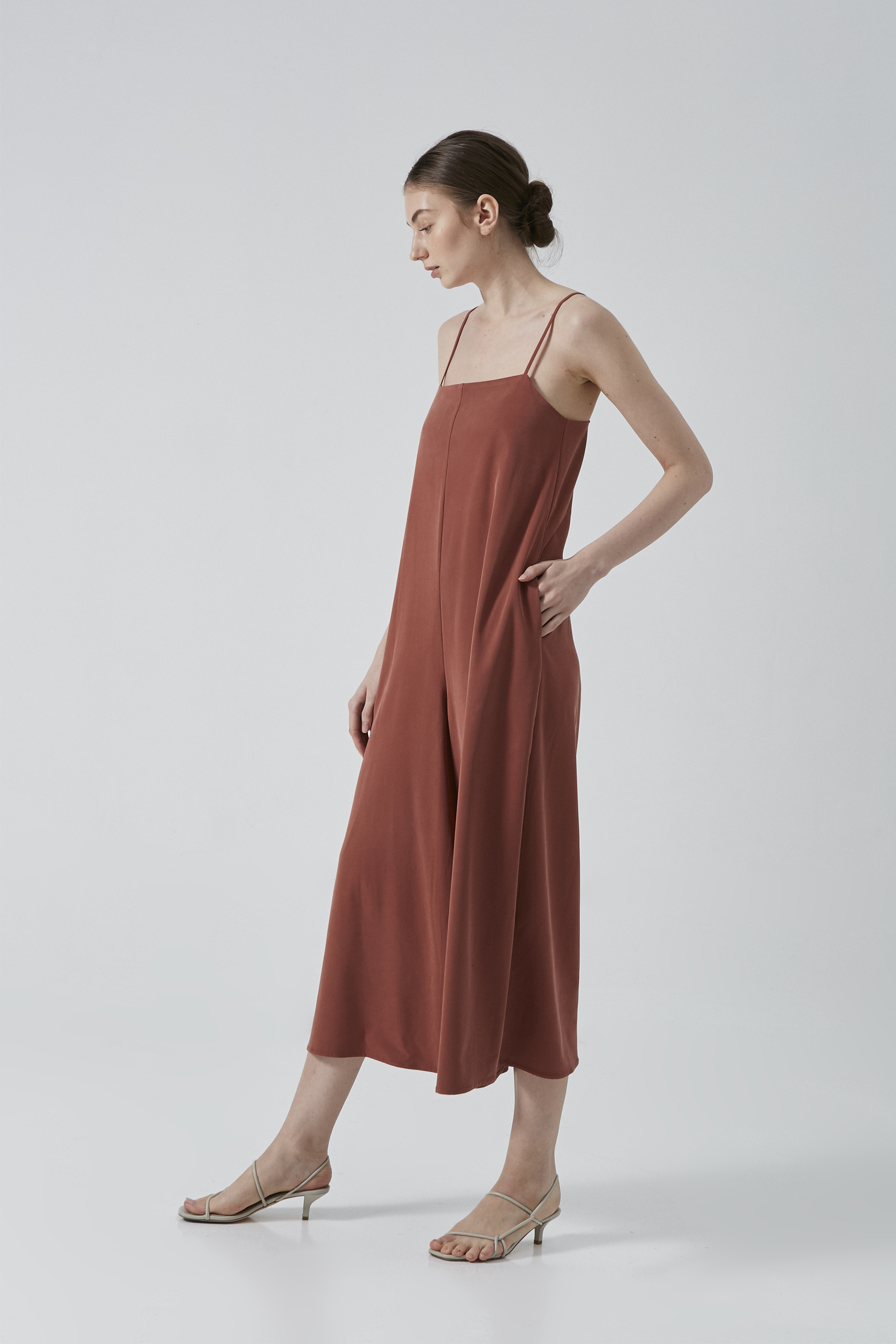 Relaxed Rayon Jumpsuit