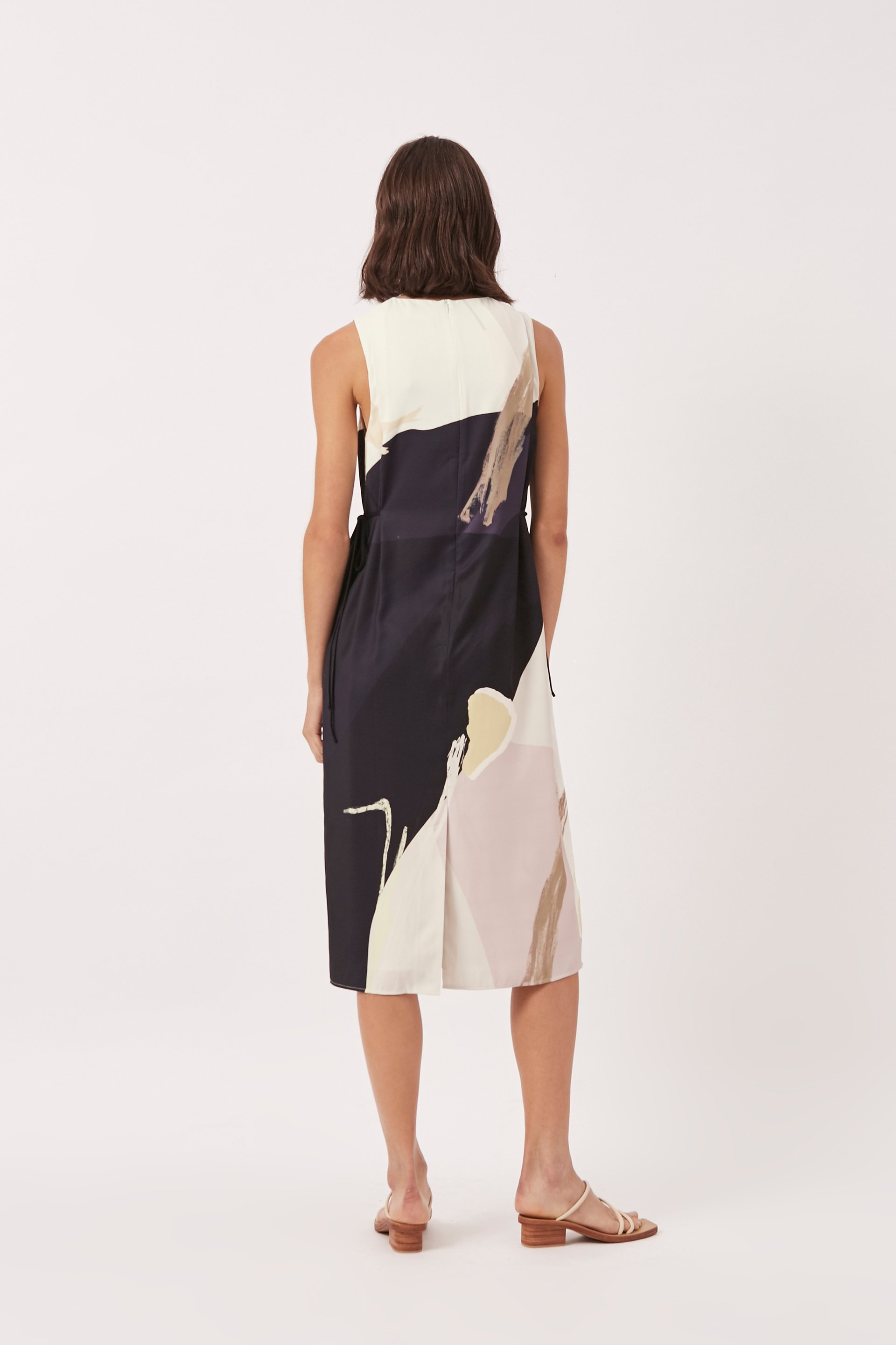 A Place To Be Pleat-Shoulder Dress
