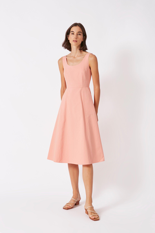 Scoop-Neck Midi Dress
