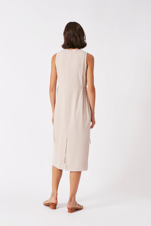 Pleat Shoulder Dress