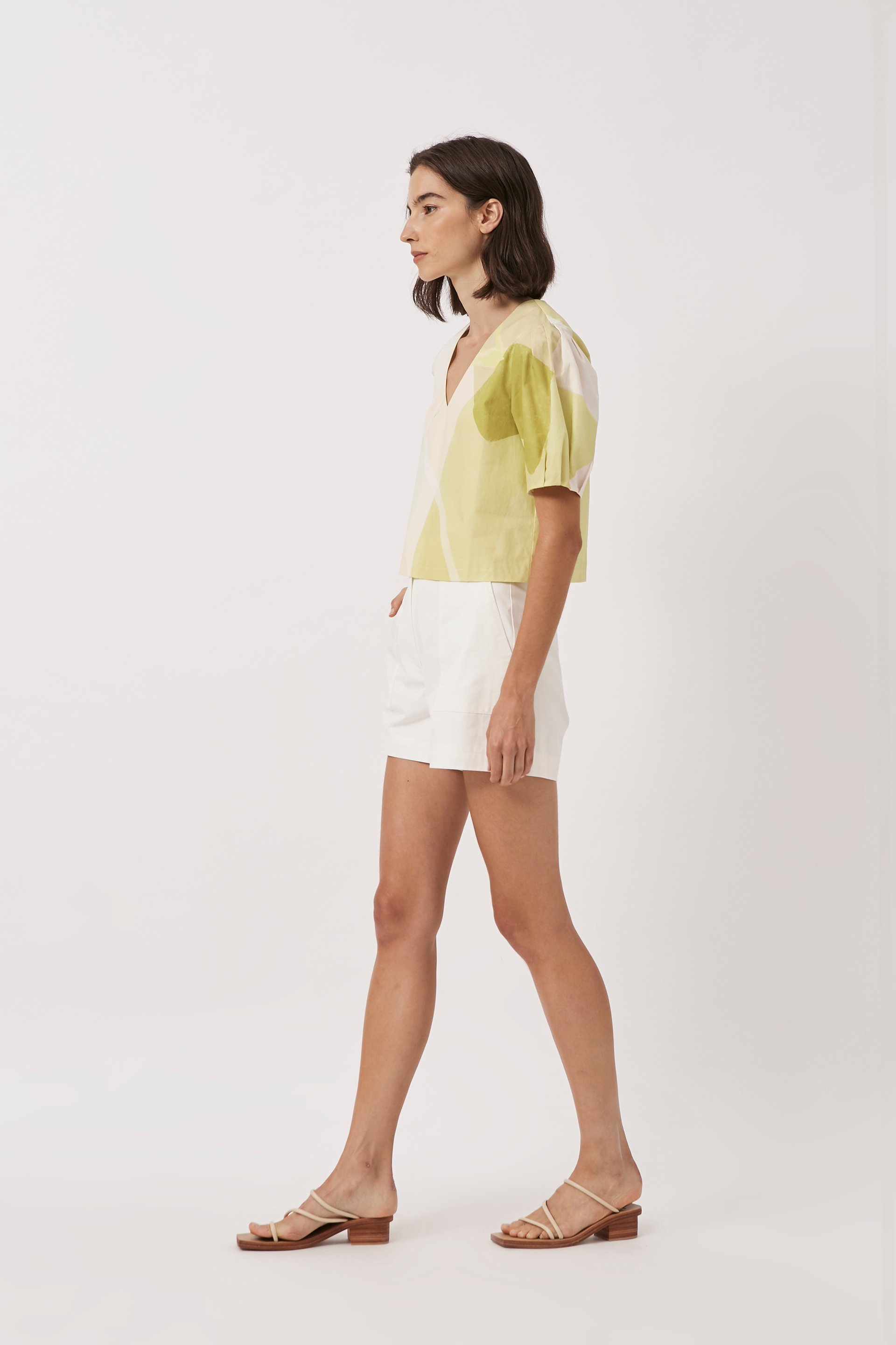 A Place To Be V-Neck Cotton Top