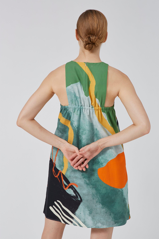 Coast Gathered-Back Shift Dress