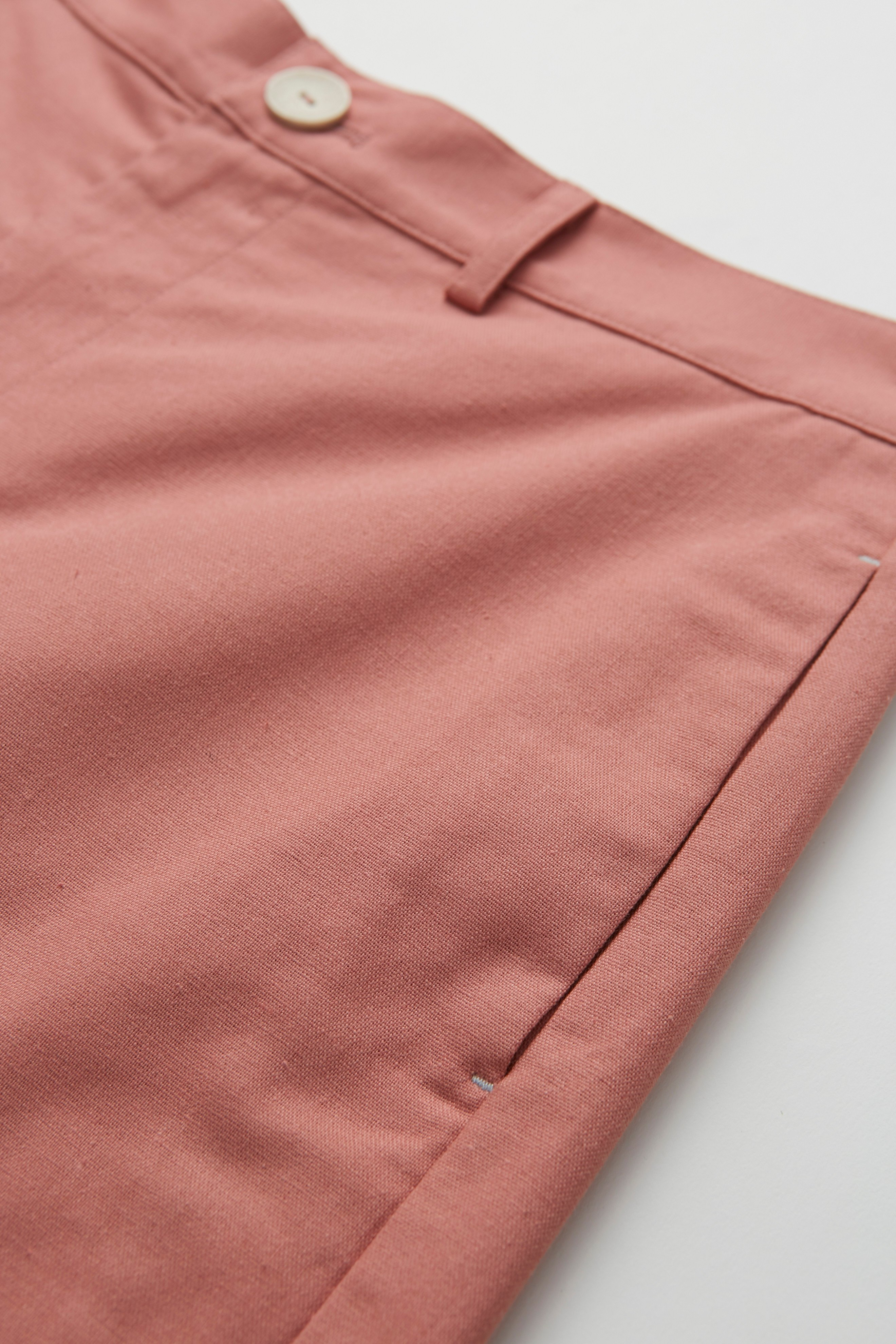 Relaxed Fit Linen Bermuda Shorts