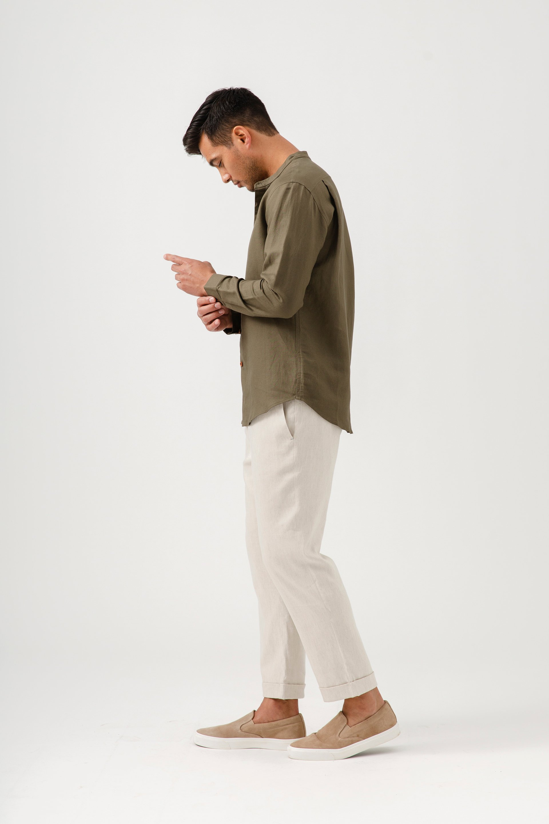 Relaxed Fit Linen Pants