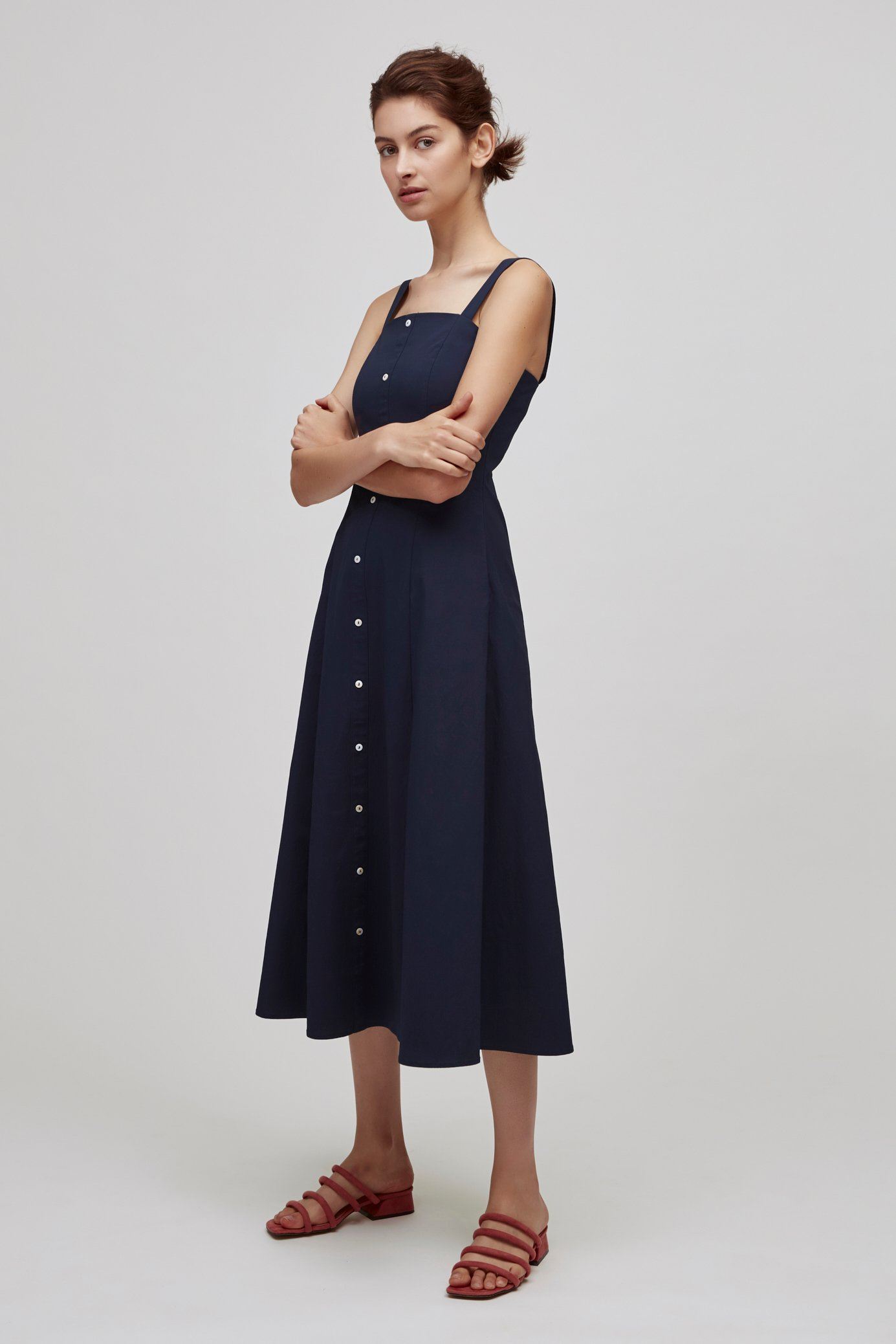 Button-Down Fitted Dress