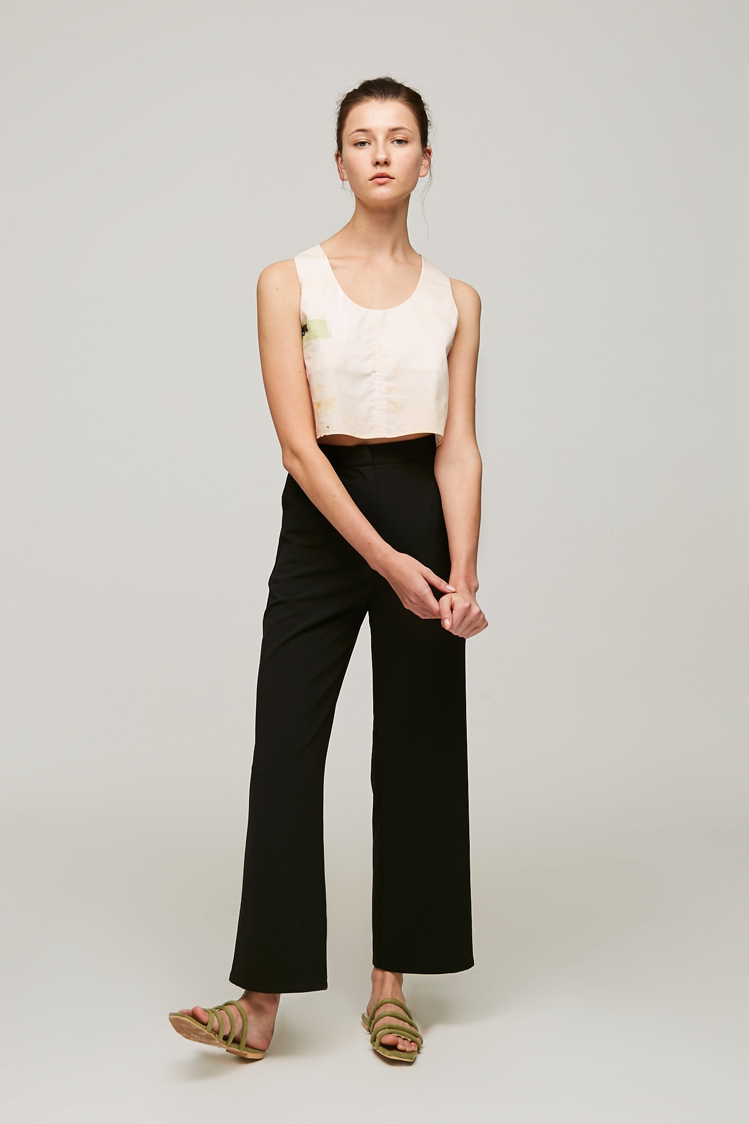 Dune Twist-Back Cropped Top
