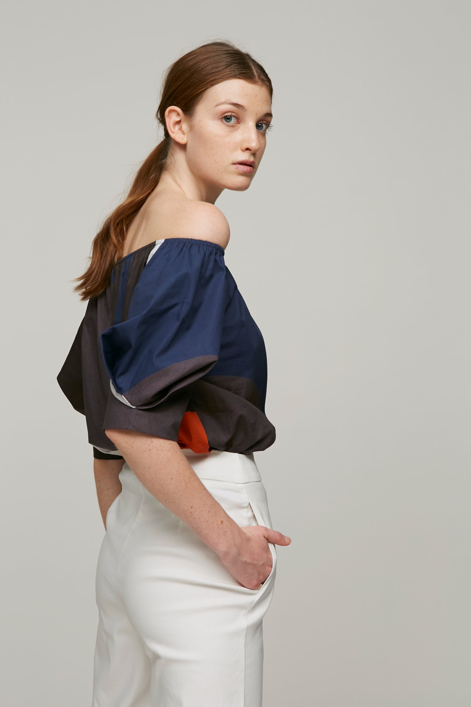 Roadmap Pleat Sleeve Top