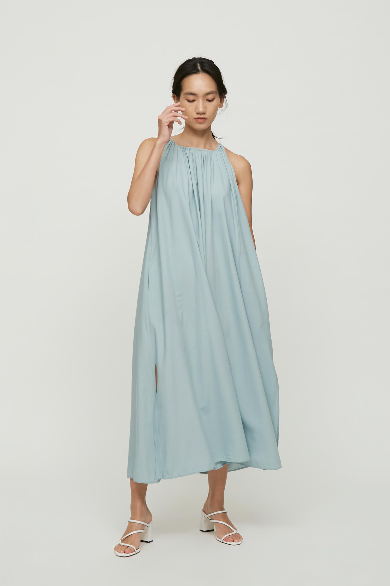 Square-Neck Maxi Dress