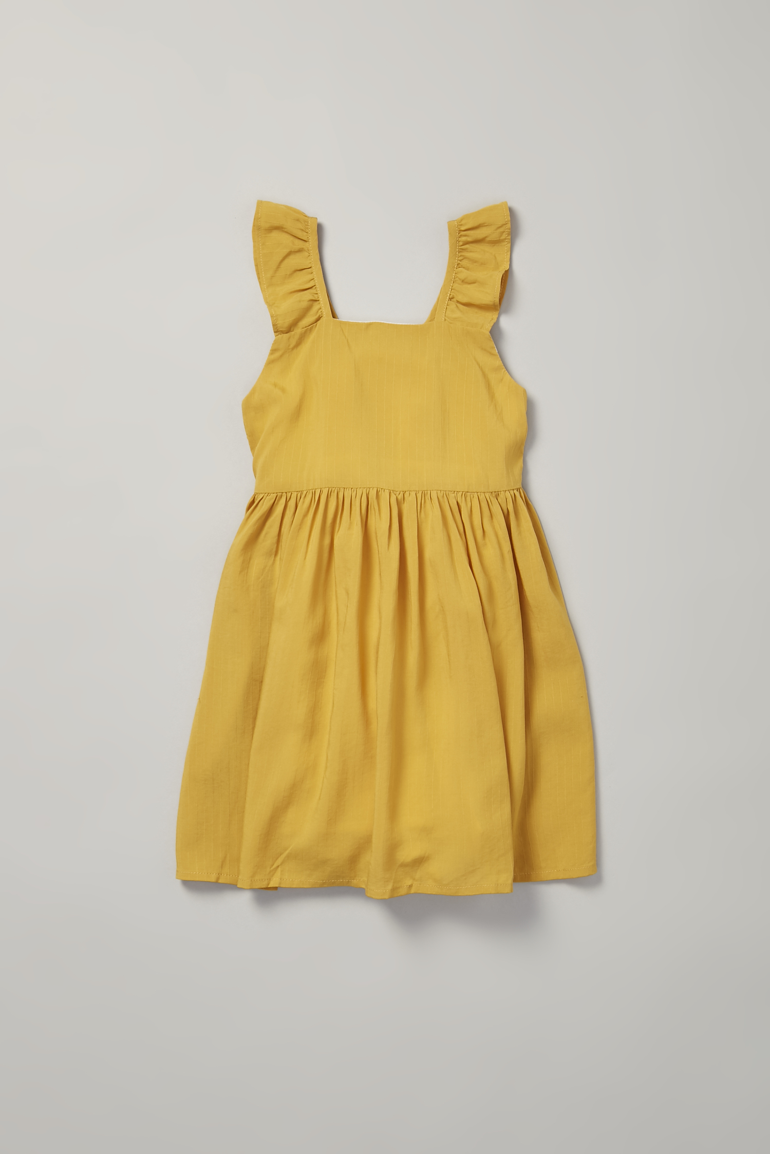 V-Back Ruffle Dress
