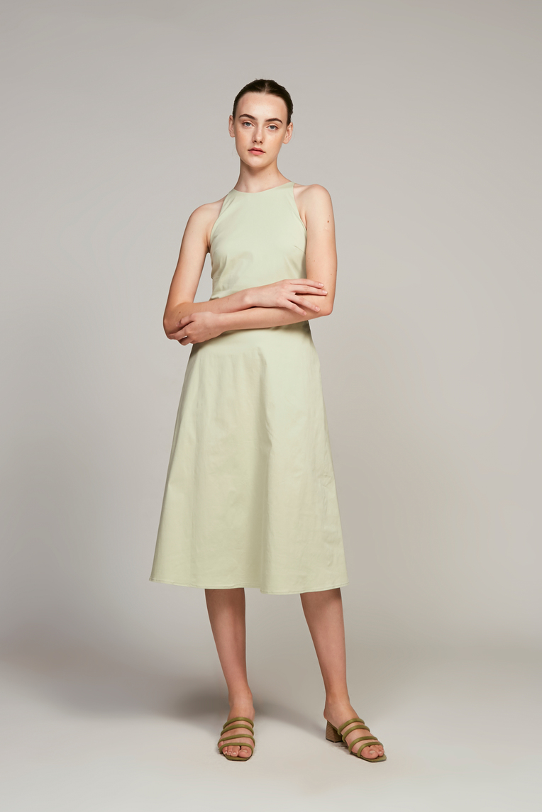 Curve Seam Midi Dress
